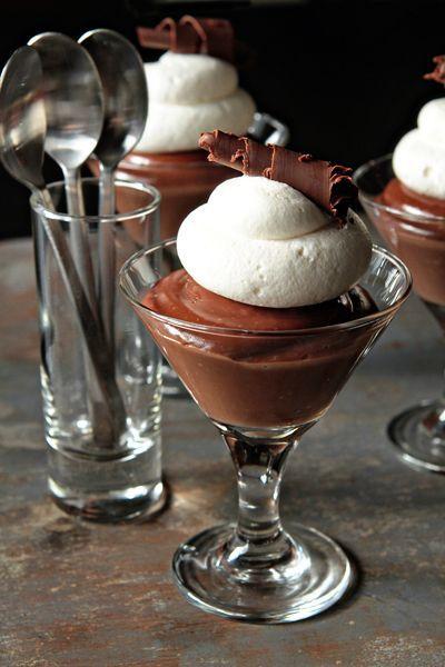 Homemade Chocolate Pudding with Baileys Irish Cream.