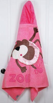 Twinkle Toe Monkey Hooded Towel