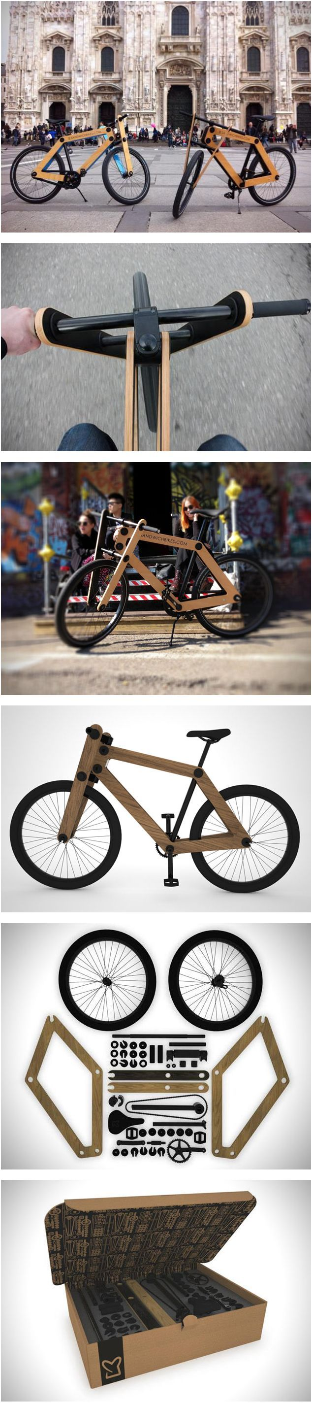 More of the flat pack Sandwich Bike in Milan