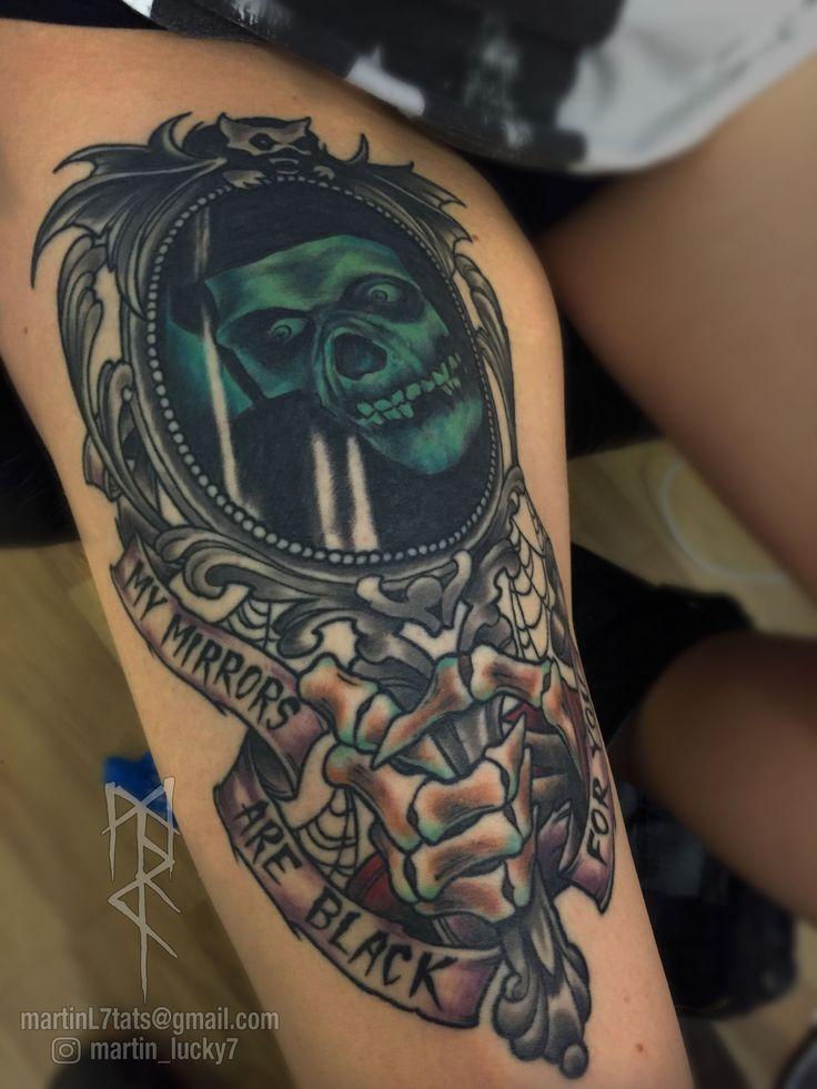#misfits #samhain #danzig #horrorbusiness #crimsonghost #mirror #neotraditional #tattoo #tattoos