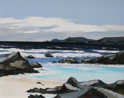 British Artist David BARNES-Rhosneigr Beach