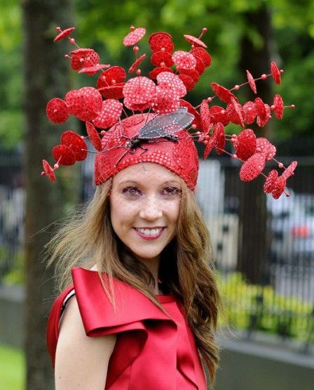 royal hats from england   RED BUG EPA 1922475a Royal Ascot: Ladies Day hats