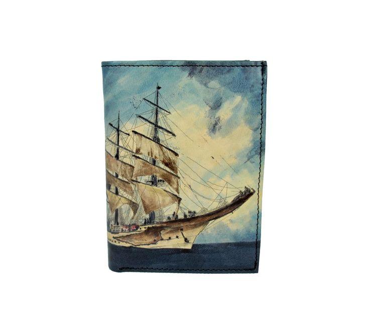 Ručne maľovaná peňaženka 8560 s motívom Pirátskej lode | Luxusné a módne šperky, doplnky, ozdoby, darčeky