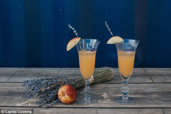 Imogen recommends using one part peach puree to four parts sparkling wine - but says you c...