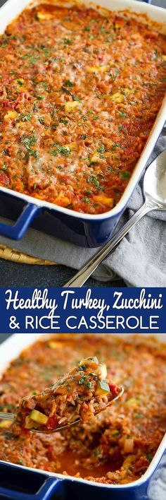 Serve up this Health Serve up this Healthy Turkey Zucchini and Rice Casserole for an easy dinner packed with lean protein and veggies. 276 calories and 7 Weight Watchers SmartPoints