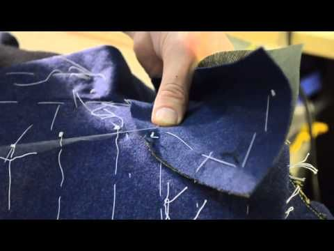 The Making of a Coat #18 Attaching the Collar - YouTube