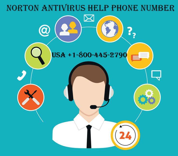 Norton Antivirus Phone Number @1-800-445-2790.