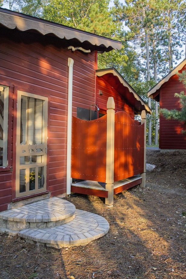 Outdoor Shower Cabin Life Magazine Photo By Rick Hammer Courtesy Lands End Development