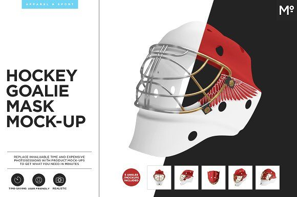 Hockey Goalie Mask Mock-up by Mocca2Go/mesmeriseme on @creativemarket