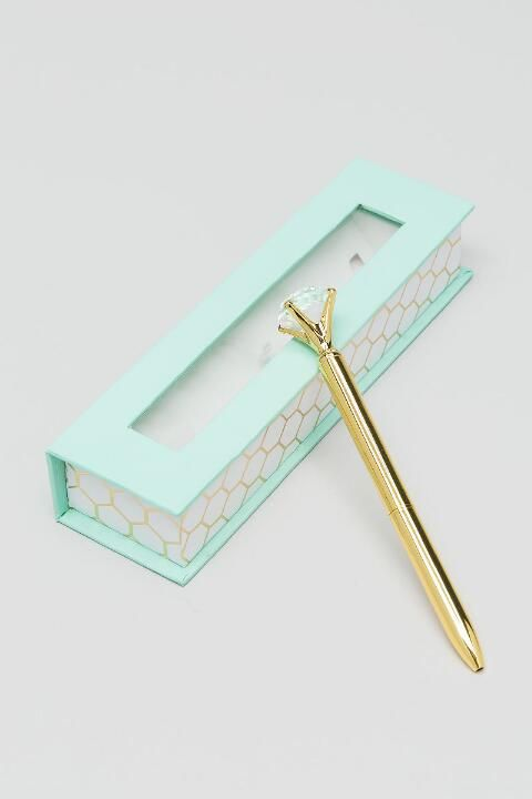 Diamond Boxed Gold Pen- Gold gift-clalternate