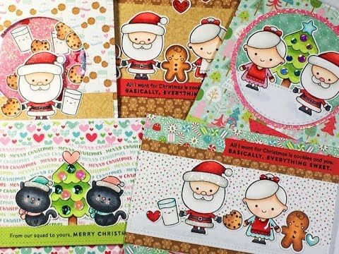 10 Cards - 1 Kit / Simon Says Stamp / Dec 2017 Kit / C&CT - YouTube
