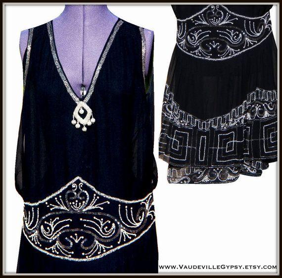 Original 1920s Vintage Flapper Dress