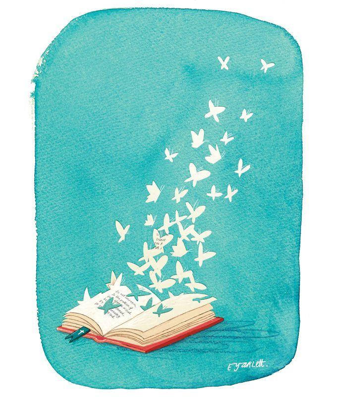 Lectura en libertad y la libertad de leer (ilustración de Emma Yarlett)