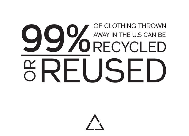 One person's trash is another's treasure.Donate your clothes. #jointhereformation