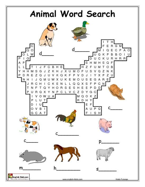 english activities 2nd grade animal word search schooling ideas pinterest english. Black Bedroom Furniture Sets. Home Design Ideas