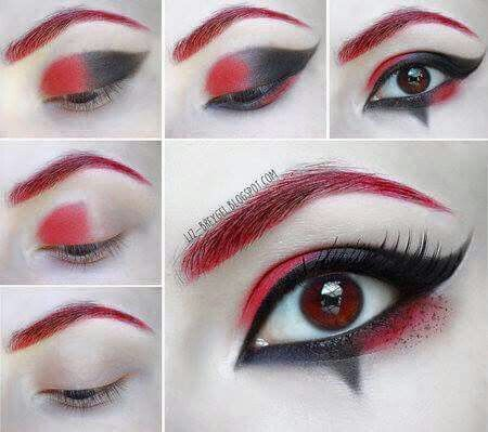 Harley Quinn makeup  eyeshadow tutorial