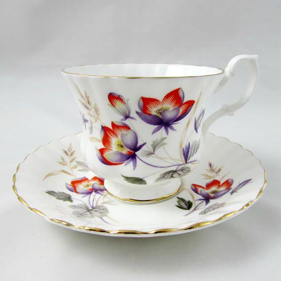 Vintage Royal Albert Floral Tea Cup and Saucer English Bone