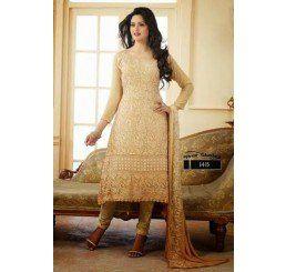 Buy Dinnar Georgette Aprioct Semi Stitched Salwar Suit at Socrase.com