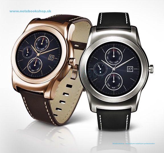 LG Watch Urbane - Vysoko elegantné chytré hodinky s plne kruhovým displejom, kovové spracovanie a náramok z pravej kože, plne guľatý P-OLED displej s vysokou citlivosťou na denné svetlo, desiatka unikátnych grafických prostredí, ktoré zmenia vzhlad hodinek, OS Android Wear s rýchlym náhladom chytrých notifikacií, upozorňujúcich na prichádzajúci hovor, zmeškané udalosti, alebo napr. predpoveď počasia. Hodinky umožňujú mapovať fitness aktivity vďaka krokomeru a senzoru srdečného tepu...