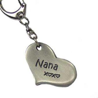 Nana Hugs Heart Keychain - Chelsea Pewter #MothersDay