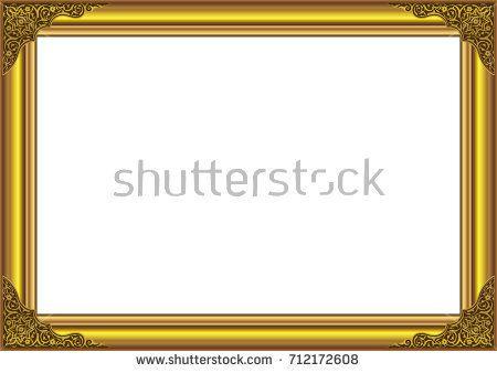 Wood Gold Frame with floral ornament on corner