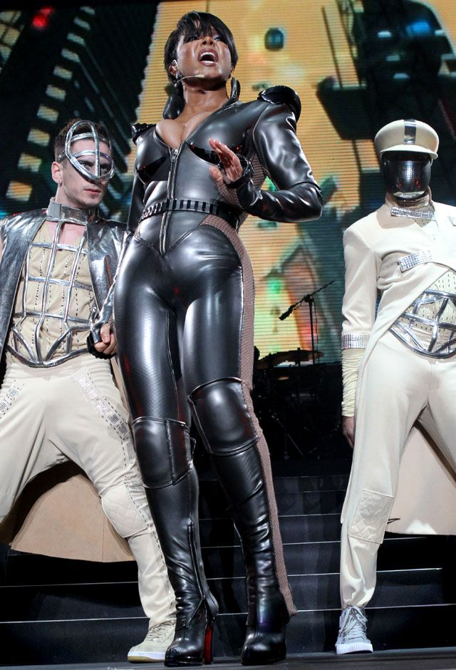 Janet Jackson In Leather Jumpsuit Google Search Janet