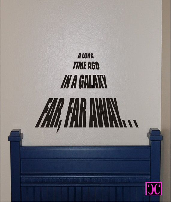 Star Wars A Long Time Ago Vinyl Wall Decal