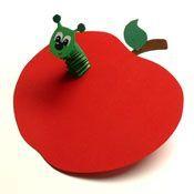 Wurm (Hexentreppe) im Apfel (Fall Diy Decorations)