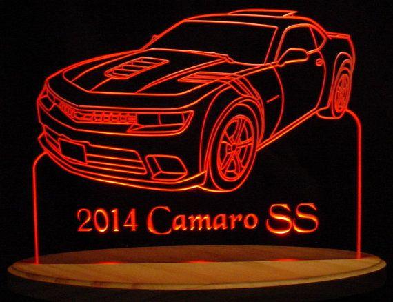 2014 Camaro SS Acrylic Lighted Edge Lit Led by ValleyDesignsND