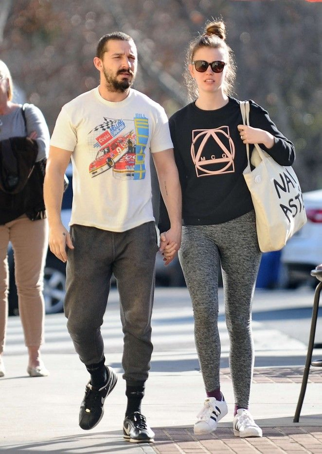 Mia Goth and Shia LaBeouf out in Studio City 01 (With