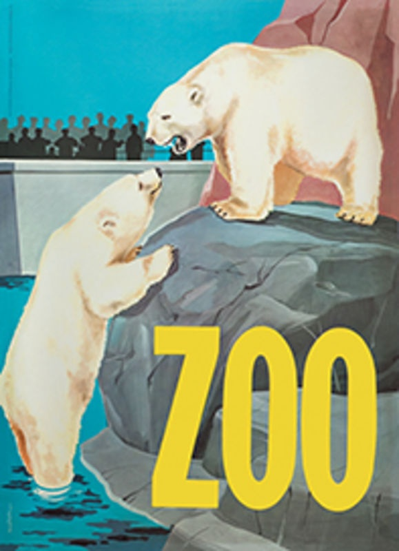 Zoo Plakat m. isbjørn