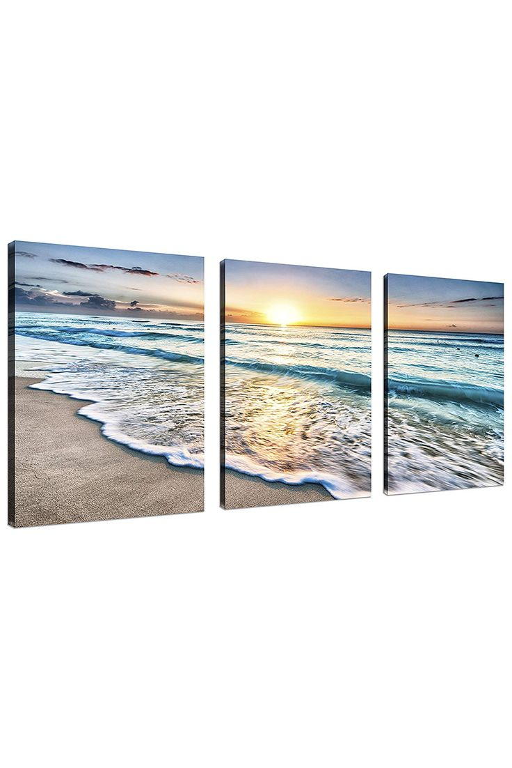 How To Make The Room Feel Relaxing And Peaceful 3 Panel Beach Canvas Wall Art Tutubeer Beach Wall Beach Canvas Wall Art Beach Canvas Beach Wall Art