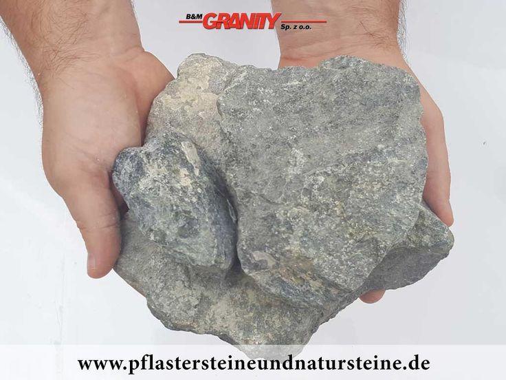 Ziersteine / Eckige Steine aus Serpentin - Serpentinit (trocken) für Gabionen