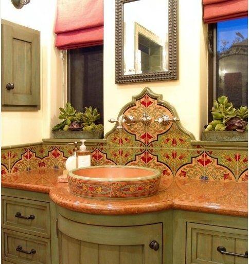 Spanish/Hacienda style bathroom