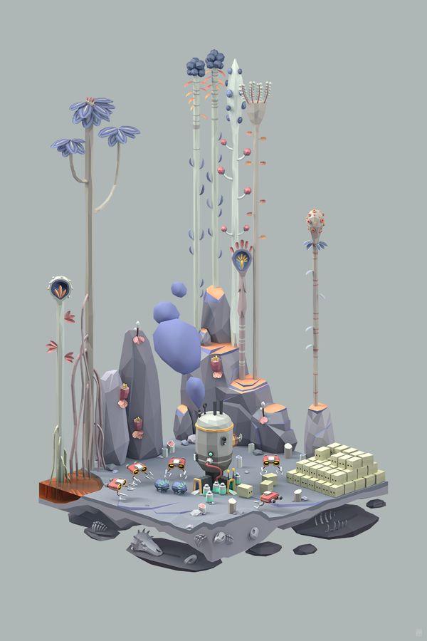Ecology series by Erwin Kho, via Behance