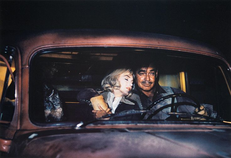 """Marilyn Monroe and Clark Gable in """"The Misfits"""""""