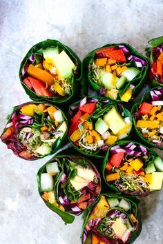 Wholehearted Eats : Rainbow Rolls with Creamy Miso