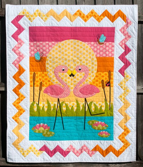 Flamingo Quilt - OMG, too cute