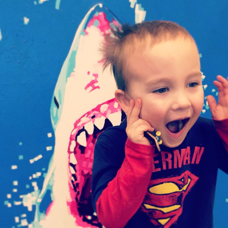 Shark attack!!! Watch out Superman!