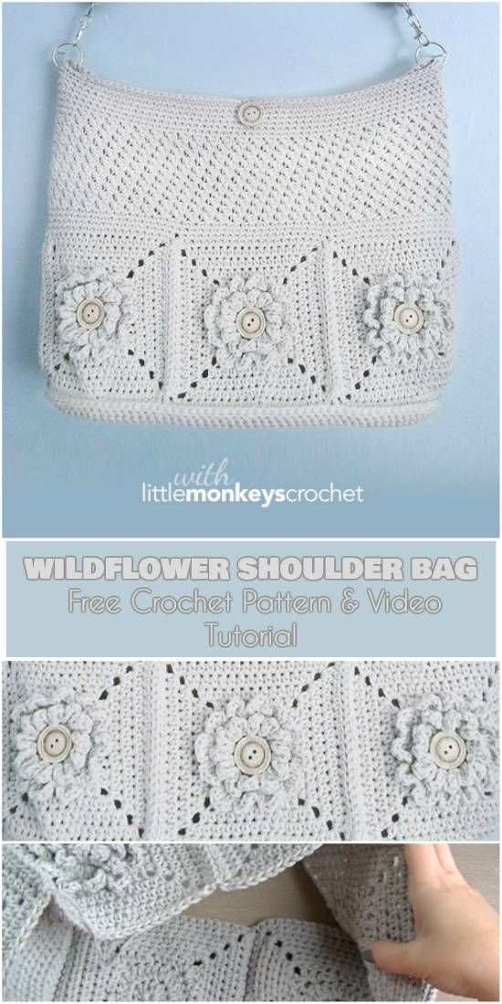 Mejores 116 imágenes de crochet handbags en Pinterest | Bolsos de ...