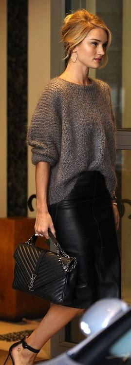 Rosie Huntington Bracelet ' Anita Ko Skirt ' Marks and Spencer Purse 'Saint Laurent Shoes 'Gianvito Rossi......