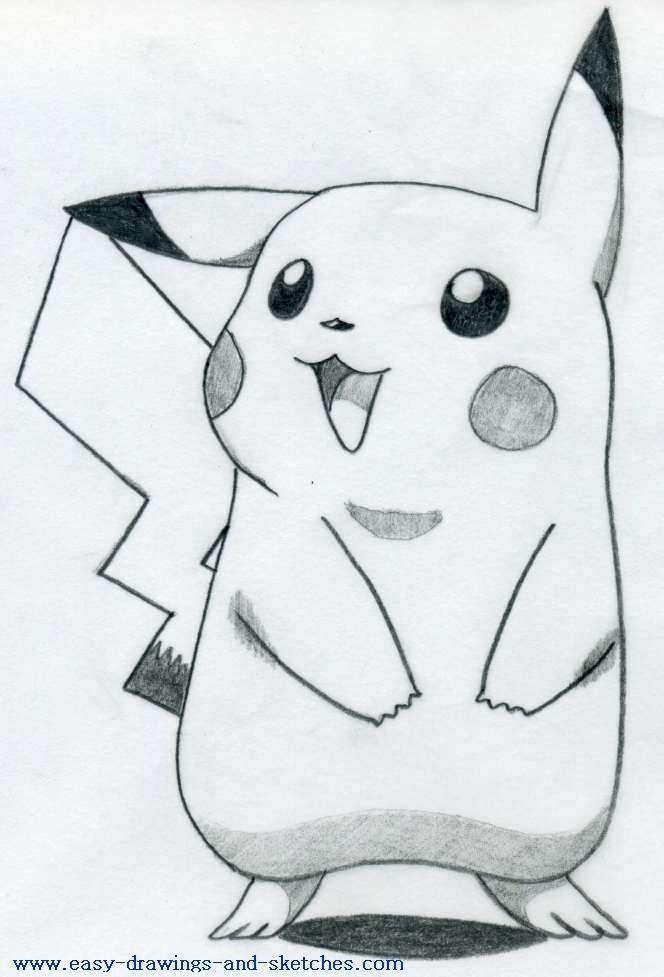 how to draw pikachu 1
