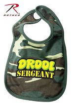 military baby clothes | ... DROOL SERGEANT INFANT BIB Military Baby Shower Clothes Camouflage Gear
