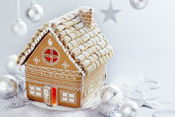 Make our gingerbread house your Christmas showstopper. When it's finished, light up your house with a tea light.