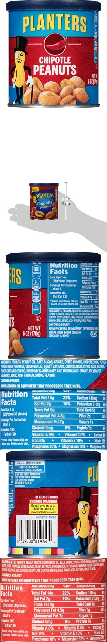 Planters Peanuts, Chipotle, 6 Ounce