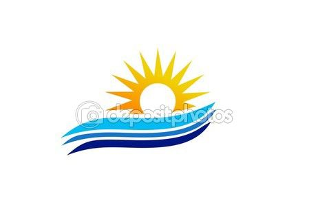 #wave #sun #logo #blue #sea #waves #symbol #summer #icon #vector #design #sunrise #sunset #illustration #holiday #bright #natural #wind #beach http://depositphotos.com?ref=3904401