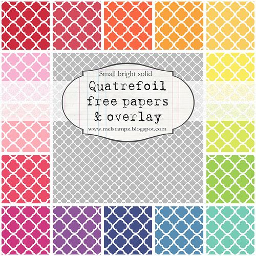 Quatrefoil free papers & overlay