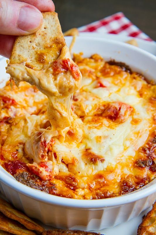 4 Cheese Hot Roasted Red Pepper Dip | closetcooking.com