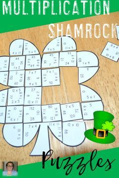 St. Patrick's Day Multiplication Shamrock Puzzles - These puzzles are perfect for math centers during St. Patrick's Day week. Each of the three puzzles will have students answer 48 different multiplication problems from 0x0 to 12x12. They're perfect for third or fourth grade students. Use them for early or fast finishers, review, enrichment, GATE, critical thinking, centers, and more! Click through to pick yours up today! $ {3rd or 4th graders}