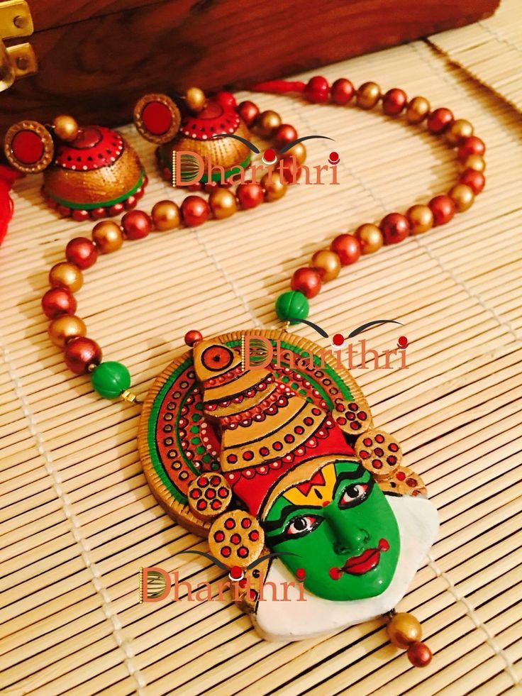 Terracotta kathakali set from Dharithri terracotta jewellery